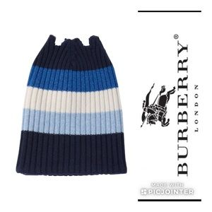 Burberry💙Rubbed Open Top Cashmere Color Block